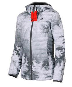 794808f38889 Das Bild wird geladen Adidas-Damen-Daunenjacke-Steppjacke -ClimaHeat-Winterjacke-mit-Kapuze-