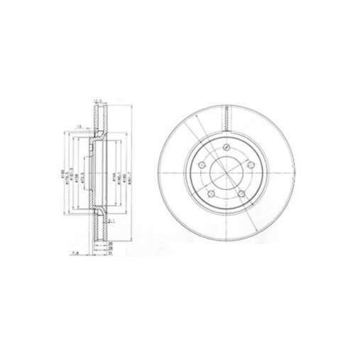 Genuine Delphi Avant Ventilé Disques De Frein Lot Paire-BG3966