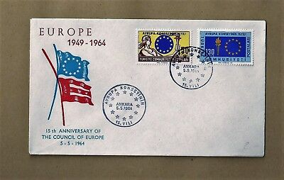 Mai 1964 Stempel Vom 5 Ankara Radient Briefmarken Brief Europa-vorläufer