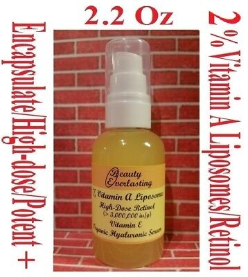2.2oz 2% Vitamin A Liposomes/Retinol + E,Encapsulated,High-dose,Hyaluronic Serum