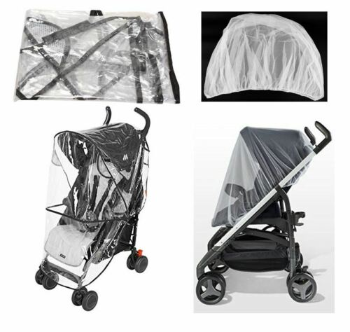 Rain Cover Mosquito Net Set Covers Protector for Peg Perego Kids Baby Strollers