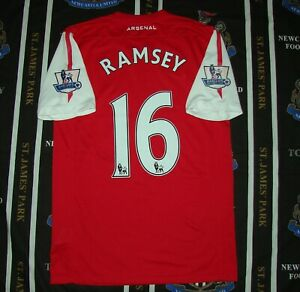 Details about Arsenal London Home Football Shirt Jersey 2011 - 2012 Nike Aaron Ramsey Size S