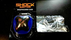SHOCK DOCTOR MOUTH GUARD  CASE -BOX -Blue + FREE  Mouthguard-New