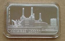 1oz Pure Silver 999  Bar - BATTERSEA LONDON