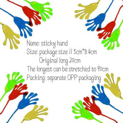 5Pcs Super Funny Sticky Hands Palm Party Favor Toys Novelties Prizes Kids Gifts