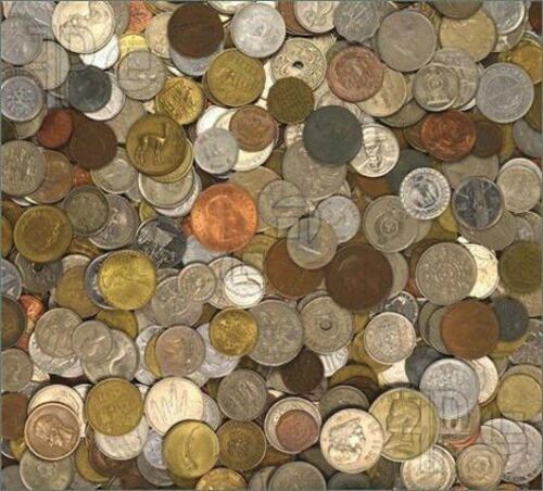 Two Pounds of Foreign World Coins With Guaranteed Silver Coins