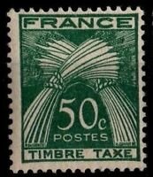 TIMBRE TAXE Agricole 50 c, Neuf ** = Cote 25 € / Lot Timbre France n°80