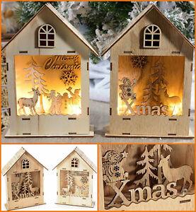 Decorazioni Natalizie A Led.Coppia Decorazioni Natalizie Casette Illuminate Luci Natale Led Addobbi Natalizi Ebay