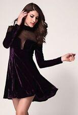 langarm  Minikleid Stretchkleid M 36 38 Abendkleid Partykleid Clubkleid Lila