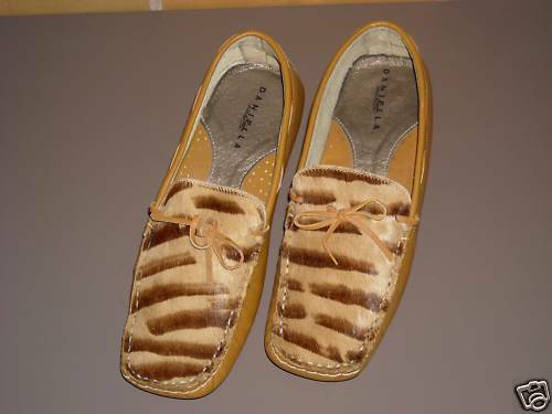 Mocassin Pantoufles Loafers tigerlook-Taille 38,5 Neuf