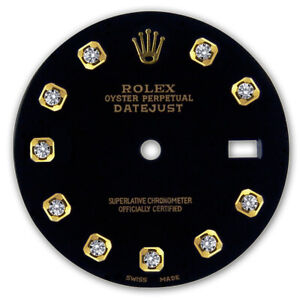 REFINED-MENS-2-TONE-DATEJUST-BLACK-DIAMOND-DIAL-FOR-ROLEX-36