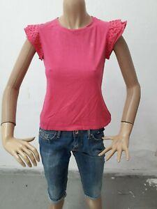 Maglia-RALPH-LAUREN-Donna-T-shirt-Woman-Polo-Femme-Taglia-size-S-Cotone-8531