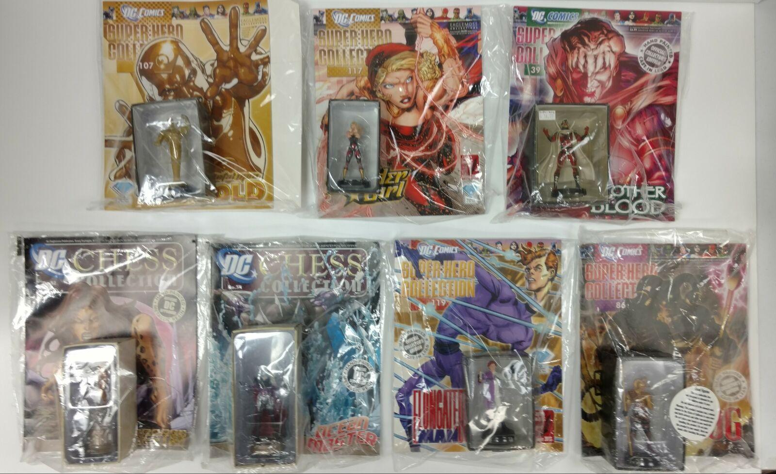 DC Chess e Super Hero  Collection Eaglemoss Lot 7 cifras Plus Magazines  consegna gratuita