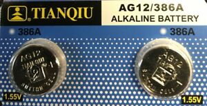 AG12-LR43-Tianqiu-386-LR1142-1-5V-Alkaline-Battery-Watch-Remote-US-Free-shipping