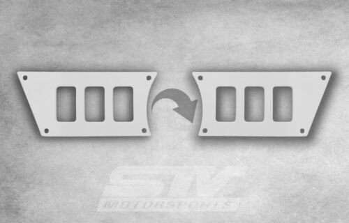 6 switch dash panel for Polaris RZR XP 900 2015-2018 WHITE