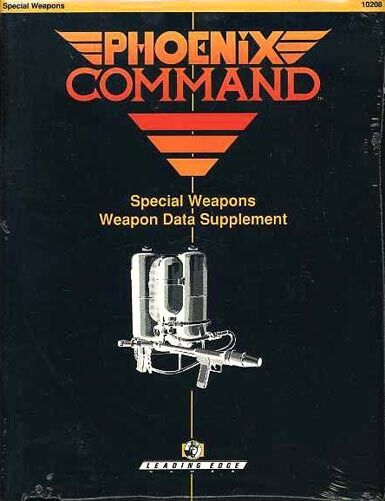 PHOENIX COMMAND SPECIAL WEAPONS SEALED NEW Weapons Data Supplement Leading Edge