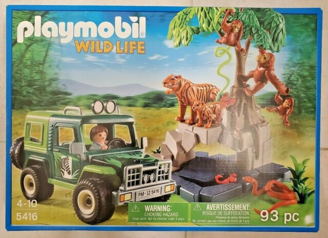 New Playmobil 5416 - Tigers, Orangutans and Jungle Jeep
