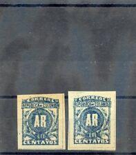 COLOMBIA Sc H3(x2)(MI 162aB,bB)**VF NH 1902 10c BLUE/GREEN, /BLUISH, IMPERF, $30