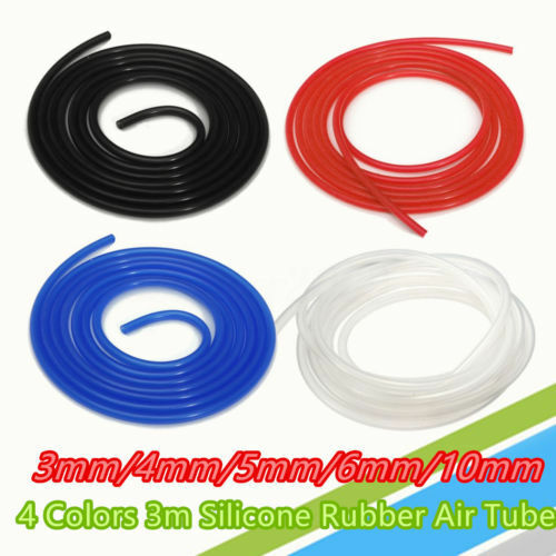 3 Metre Silicone Vacuum Hose Turbo Radiator Rubber Air Vac Pipe Auto Tubing Tube