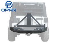Black Textured Rear Bumper W/Tire Carrier Hitch Receiver 4 Jeep Wrangler JK07-17