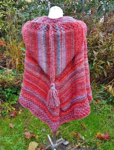 unikat poncho handmade s Dawanda Zipfelkapuze Mit l fSCaXqw