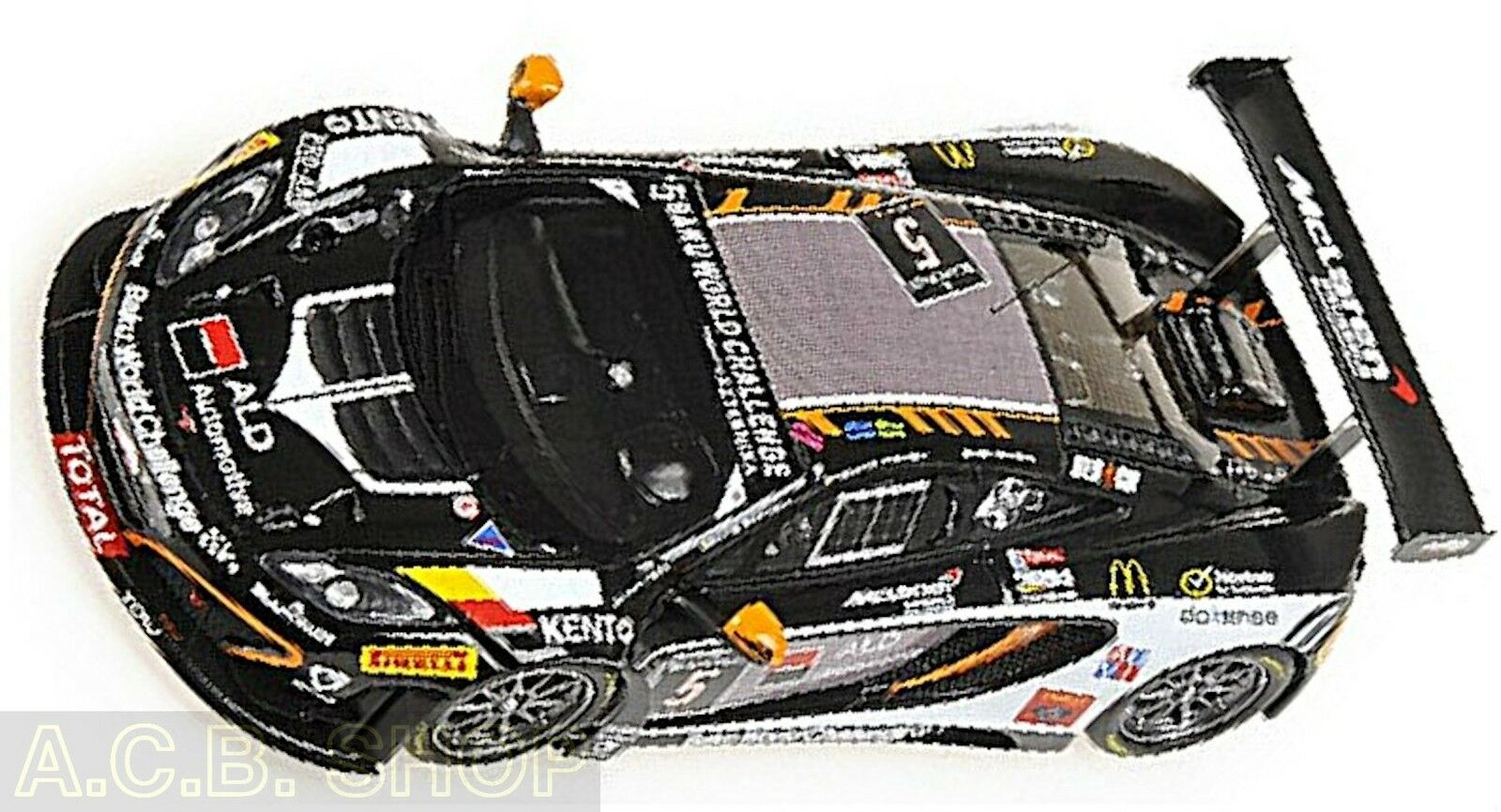 McLaren 12c gt3 24h spa spa spa 2013-boutson Ginion racing  5 1 43 MINICHAMPS 117a3a