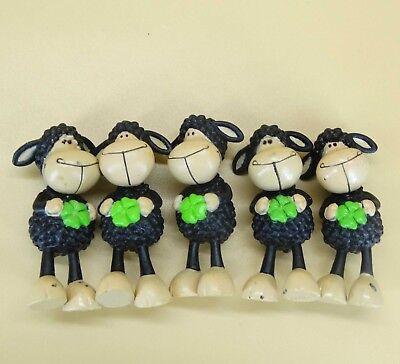 "NICI toys lot of 5 Sheep PVC Figure 2/"" #sd3"