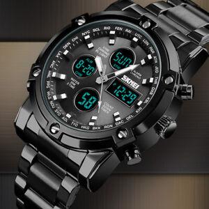 Herren-Quarz-Analog-Armbanduhr-Chronograph-Datum-Watch-Men-Wasserdicht