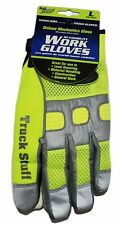 Truck Stuff Deluxe Mechanics Hi Visibility Work Gloves Mens Size Large Brand New