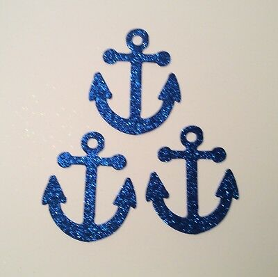 Glitter Foam 12 Nautical Die Cuts ~ Life Saver Anchor /& Sailboat Ship/'s Wheel