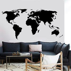 World Map Wall Decal Atlas Decal World Map Stickers Adventure Wall Stickers Wall Decal Vinyl World Map Wall Art World Map Decals