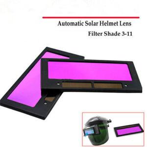 """4-1//4/"""" x 2/"""" solar Auto Darkening Welding Helmet//Mask Lens Filter Shade 3-11 $/_$"""