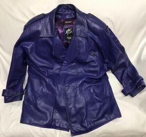 Vintage-90s-Ms-Maxima-Woman-s-Purple-Leather-Jacket-Size-Large-See-Description