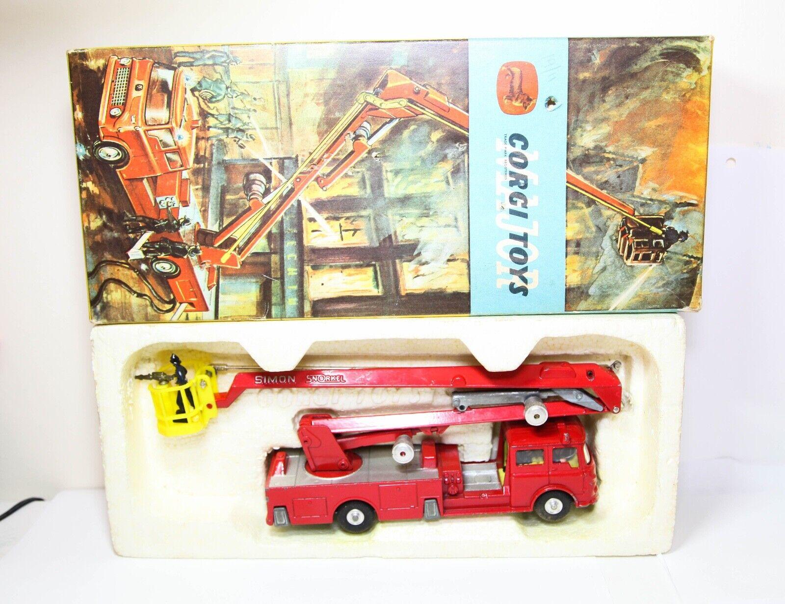 CORGI 1127 BEDFORD Simon Snorkel fire engine dans sa boîte  d'origine-Excellent  sortie d'usine