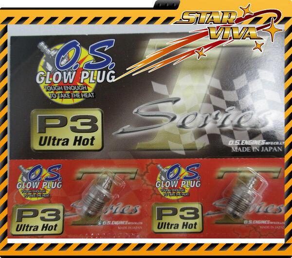 OS Engine  P3 Glow Plug Ultra Hot Turbo O.S. 12pcs  SV