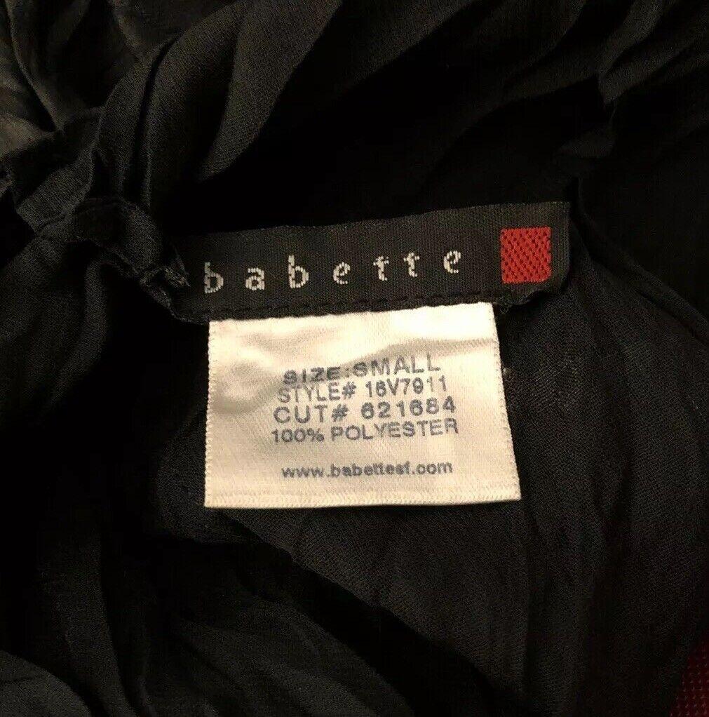 Babette Light Weight Semi Shear Crinkled Blouse T… - image 8