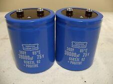 39000UF 75V capacitors, Accuphase P300, McIntosh MC-2205