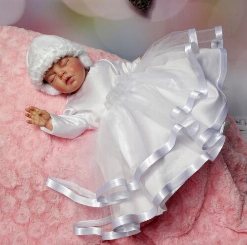 Taufkleid Hose Babykleid Tüll  62,68,74,80,86 Winter warm Stirnband Mantel