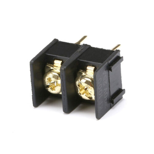 10mm Pitch 2 Pin PCB Mount Barrier Screw Terminal Block Connector 300V 25A