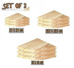 Set-Of-3-Natural-Wood-Corner-Shelves-Shelf-Pine-Shelf-Floating-Shelf-3SIZE