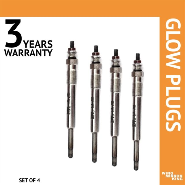 4x Glow Plug for Peugeot 807 2,2 HDI E set of 4