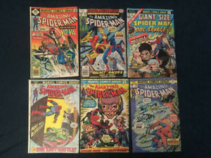 AMAZING-SPIDER-MAN-Bronze-Age-Lot-of-6-comics-115-138-143-171-182-Giant-3-VG