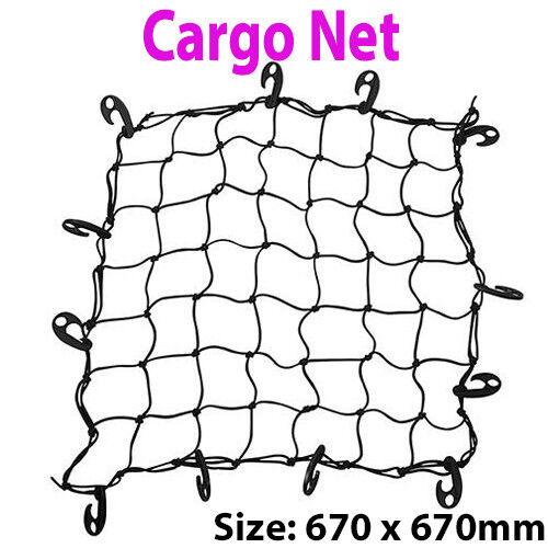 Voiture Stockage Boot élastique Bungee Crochet Fixation 670 X 670 mm Cargo Treillis Araignée Net