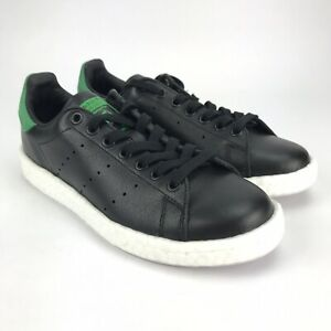 Details about Adidas Originals Stan Smith Boost Core Black Green Shoes  Womens Size 8 Mens 6