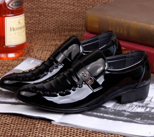 Business Spitz Lackleder Herren Schuhe Anzug Slipper Hochzeit Party