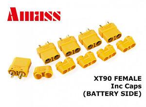 AMASS-XT90-FEMALE-Connectors-Plugs-BATTERY-SIDE-XT90H-inc-Caps-GENUINE