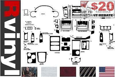 Carbon Fiber 3D Silver Rvinyl Rdash Dash Kit Decal Trim for Toyota Avalon 2005-2009