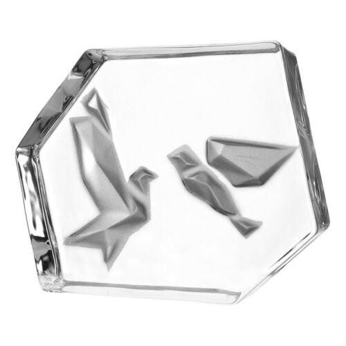 Leonardo Objekt EMOZIONE Vögel Dekoobjekt Dekoration Deko Kalk-Natron Glas 11cm