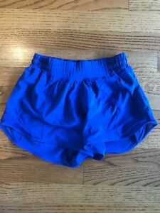 "Lululemon Women Running - Hotty Hot Shorts 4"" Long Blue Size 4"