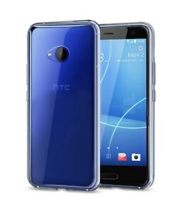 For-HTC-U11-Life-Clear-Slim-Gel-Case-amp-Glass-Screen-Protector
